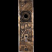 Playful Antique Aesthetic Movement Doorplates by Nashua Lock Co, c. 1880s