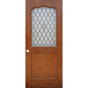 """Magnificent 36"""" Salvaged Oak Door with Gothic Arch"""