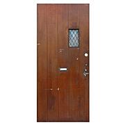 """Salvaged Antique 36"""" Tudor Door, Early 1900s"""