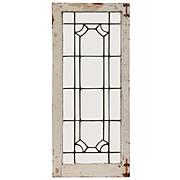Beautiful Antique American Leaded Glass Window