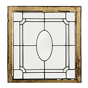 Gorgeous Antique Leaded and Beveled Glass Windows, Hand-Cut Star