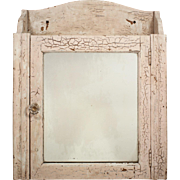 Salvaged Antique Bathroom Medicine Cabinet with Mirror, Early 1900's