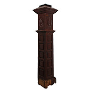 Remarkable Salvaged Antique Boxed Newel Post, Early 1900s