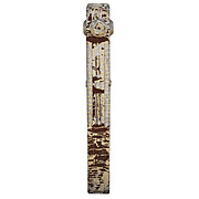 Splendid Salvaged Boxed Newel Post, 19th Century