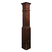 Salvaged Antique Oak Newel Post, Early 1900s