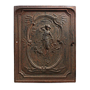 Whimsical Antique Cast Iron Figural Summer Cover with Cherubs