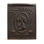 Amazing Antique Cast Iron Fireplace Cover with Musical Instruments