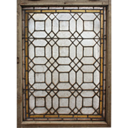 SOLD Incredible Antique American Stained and Leaded Glass Window, Early 1900s