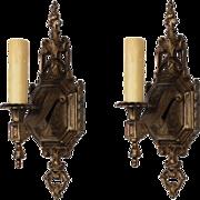 Elegant Pair of Antique Neoclassical Single-Arm Sconces