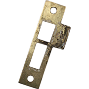 """SOLD Antique Strike Plates for Mortise Locks, 5/32"""" Spacing"""