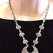 Dazzling and Highly Dramatic HOLLYCRAFT Showstopper Necklace