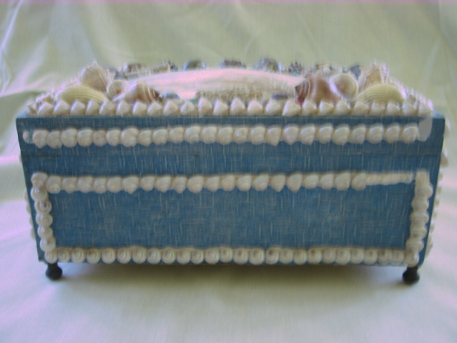 Antique Large Victorian Shell Art Box From Problem1 On
