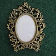 Antique Gilt brass Metal Victorian Easel Frame