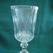 Antique 19th Century Clear Glass Celery Vase