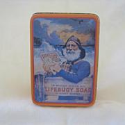 SALE Vintage Lifebuoy Soap Advertising Tin Box