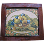 "Antique Framed Print of 'Southern Fruit""  1800's"