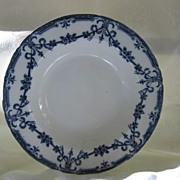 "SALE Flow Blue China Soup Plate - Adderleys - Pattern  ""Alexis"""