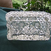 SALE Cut Crystal Glass Box for Jewelry