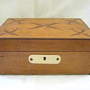 Antique Folk Art 1834 Wooden Box