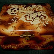 Gentleman's Victorian Celluloid Box for Collars and Cuffs