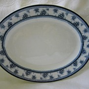 """Small Platter Blue and White by Woods and Sons  Pattern """"Torbrex"""""""