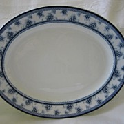 """Staffordshire Blue and White Platter  by Woods and Sons  Pattern """" Torbrex"""""""
