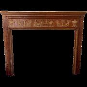 Antique Georgian Pine Classical Fireplace Surround/Mantle Circa 1790