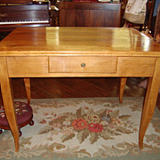 French Farm table or table desk with one drawer circa 1850