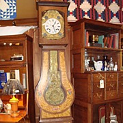 French Provincial Faux Bois Tall Case grandfather clock circa 1870