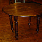 Antique French Louis Philippe drop leaves table circa 1870