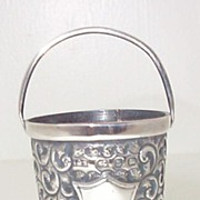 Victorian English Miniature Sterling Bucket 1899