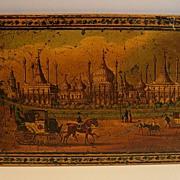 Stunning English Tunbridge Ware Panel - Regency - Royal Pavillion, Brighton, c. 1820