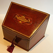 Superb Edwardian Inlaid Mahogany Stationery Box c.1905