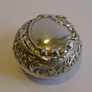 Unusual Antique Sterling Silver Pill Box - Birmingham 1899