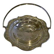 Antique English Silver Plated Basket by Briddon Brothers c.1880