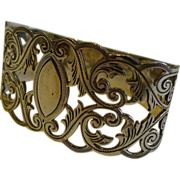 Stunning Antique English Sterling Silver Napkin Ring by James Dixon