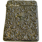 Handsome Antique English Sterling Silver Visiting Card Case - 1905