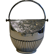 Antique English Silver Plated Biscuit Box c.1880 by George Wish