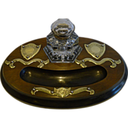 SOLD Magnificent Antique English Inkstand / Inkwell c.1870