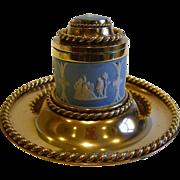 SOLD Fabulous Brass & Jasperware Betjemann & Sons Inkwell - 1864