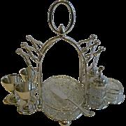 Antique English Silver Plated Breakfast Cruet by Mark Willis c.1880