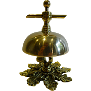 SOLD Antique English Brass Counter / Desk Bell c.1880
