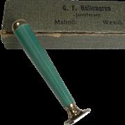 Swedish Silver Gilt and Guilloche Enamel Desk Seal c.1920