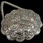 SOLD Turkish 900 Silver Embossed Wedding Mirror