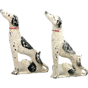 Pair of Spencer Hubley Borzoi / Russian Wolfhound Bookends - Rare