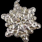 Gorham Sterling Silver Snowflake Christmas Ornament - 1971