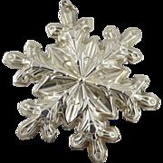 Gorham Sterling Silver Snowflake Christmas Ornament - 1973