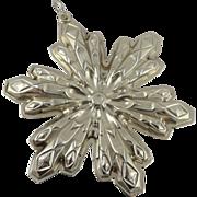 Gorham Sterling Silver Snowflake Christmas Ornament - 1974
