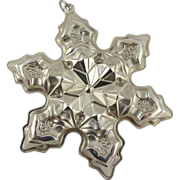 Gorham Sterling Silver Snowflake Christmas Ornament - 1975