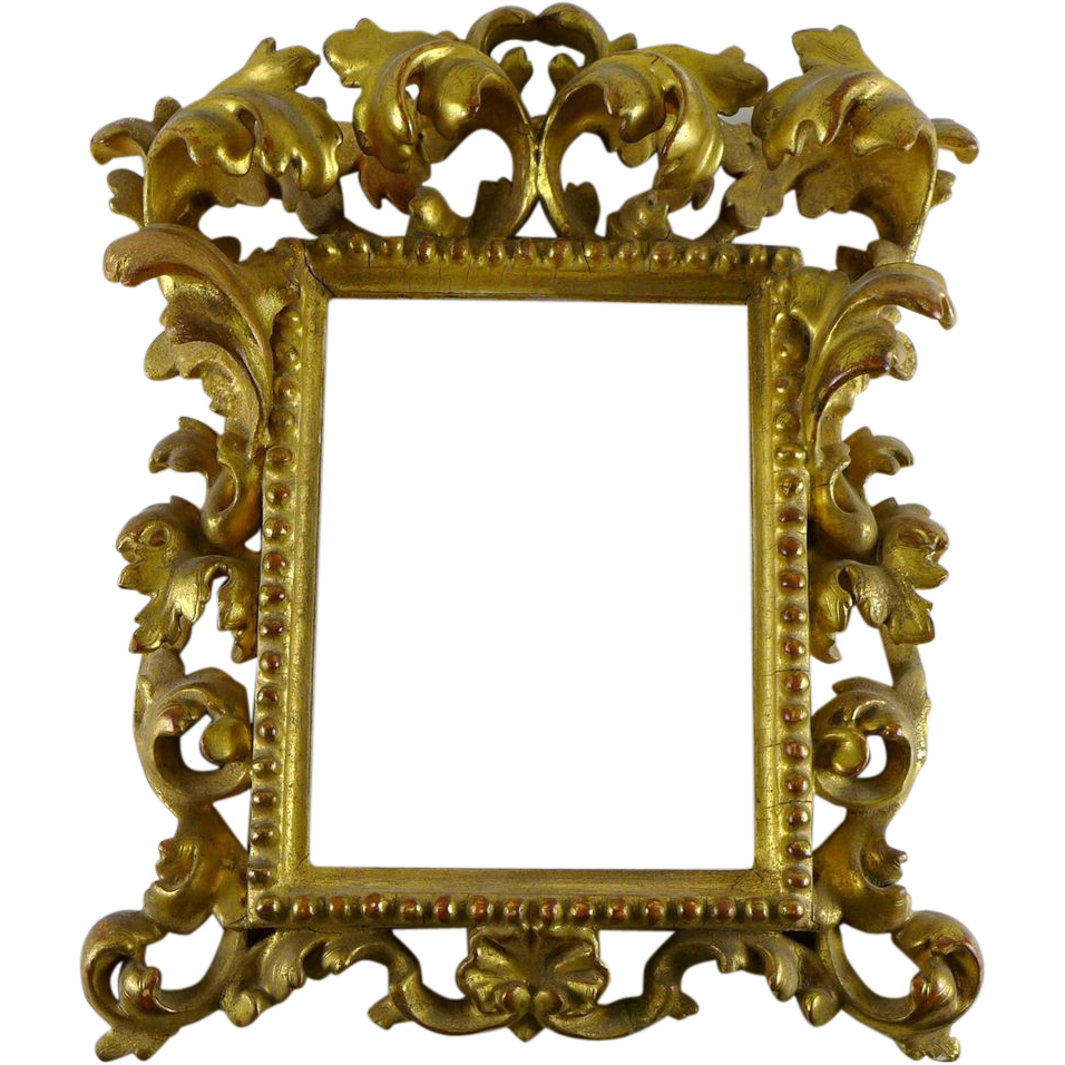 antique wooden frame png